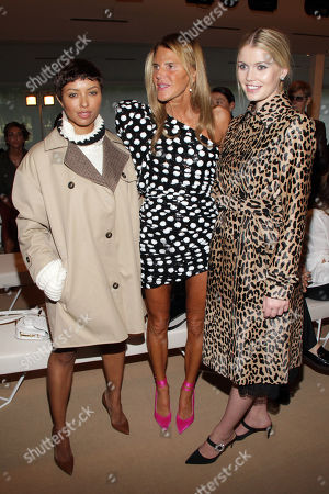 Stock Picture of Kat Graham, Anna Dello Russo and Lady Kitty Spencer in the front row