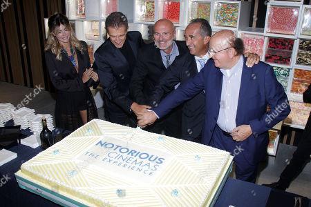 Micol Azzurro, Ezio Greggio, Guglielmo Marchetti, Andrea Stratta and Massimo Boldi