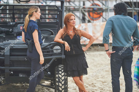 Adrienne Pickering as Beth, Poppy Montgomery as Cat Chambers and Desmond Chiam as Wyatt Cole