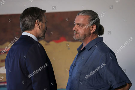 Stock Image of Grant Bowler as Carter Eastland and Ray Stevenson as Jake Elliot