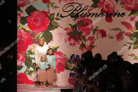 Editorial picture of Blumarine show, Runway, Spring Summer 2020, Milan Fashion Week, Italy - 20 Sep 2019