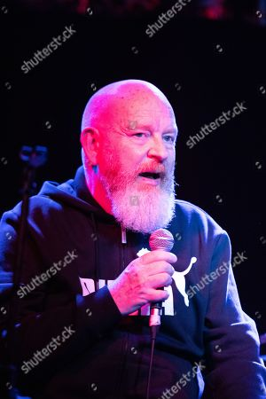 Editorial photo of Alan McGee in conversation with Steve Warith at the o2 Academy, Newcastle, UK - 19 Sep 2019