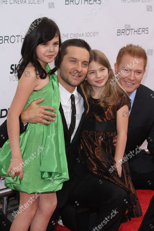 Bailee Madison, Tobey Maguire, Taylor Geare and producer Ryan Kavanaugh