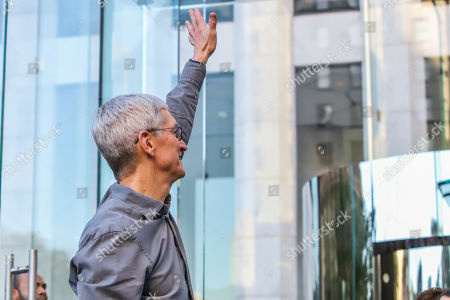 Editorial picture of iPhone 11 launch, Fifth Avenue, New York, USA - 20 Sep 2019