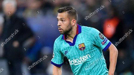 Barcelona's Jordi Alba plays during the Champions League Group F soccer match between Borussia Dortmund and FC Barcelona in Dortmund, Germany