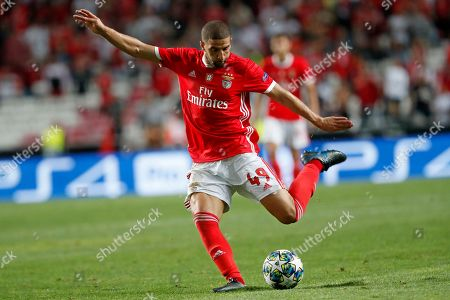 Stock Picture of Benfica's Adel Taarabt kicks the ball during the Champions League group G soccer match between Benfica and Leipzig at the Luz stadium in Lisbon