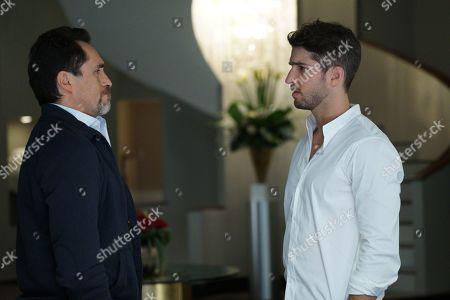 Demian Bichir as Santiago Mendoza and Bryan Craig as Javi Mendoza