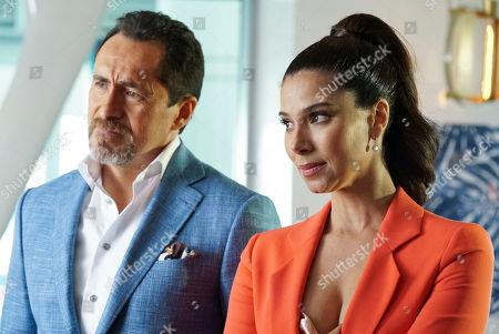 Stock Image of Demian Bichir as Santiago Mendoza and Roselyn Sanchez as Gigi Mendoza