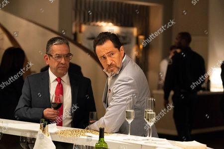 Rafael Sigler as Roger and Demian Bichir as Santiago Mendoza