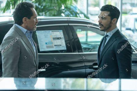 Demian Bichir as Santiago Mendoza and Shalim Ortiz as Mateo