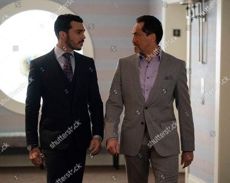 Shalim Ortiz as Mateo and Demian Bichir as Santiago Mendoza