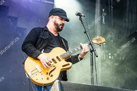 Stock Image of Chris Vos of The Record Company performs at Bourbon and Beyond Music Festival at Kentucky Exposition Center, in Louisville, Ky