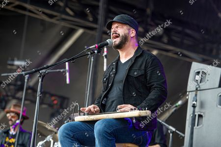 Chris Vos of The Record Company performs at Bourbon and Beyond Music Festival at Kentucky Exposition Center, in Louisville, Ky