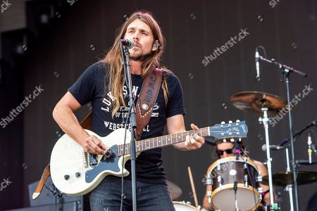 Lukas Nelson of Lukas Nelson & Promise of the Real performs at Bourbon and Beyond Music Festival at Kentucky Exposition Center, in Louisville, Ky