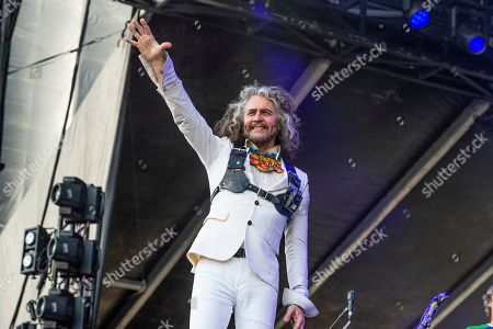 Wayne Coyne of The Flaming Lips performs at Bourbon and Beyond Music Festival at Kentucky Exposition Center, in Louisville, Ky