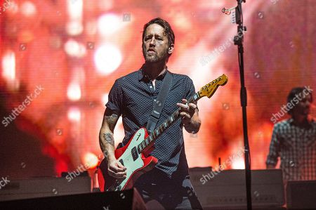 Stock Image of Chris Shiflett of the Foo Fighters performs at Bourbon and Beyond Music Festival at Kentucky Exposition Center, in Louisville, Ky