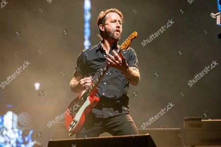 Stock Photo of Chris Shiflett of the Foo Fighters performs at Bourbon and Beyond Music Festival at Kentucky Exposition Center, in Louisville, Ky