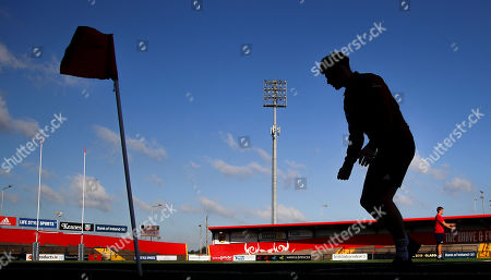 Stock Image of Munster vs Cardiff Blues. Munster's Charlie O'Doherty on the pitch ahead of the game