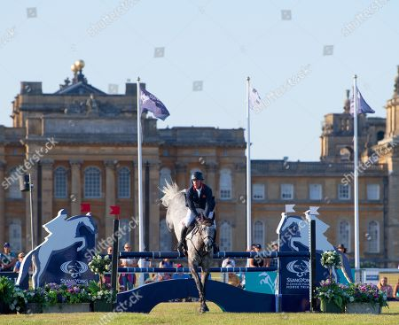Oliver Townend competing on Dreamliner during the CCI-S48/9YO Show Jumping at Blenheim Palace Horse Trials