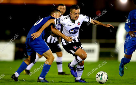 Waterford vs Dundalk. Waterford's Tom Holland and Robbie Benson of Dundalk