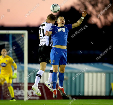 Stock Picture of Waterford vs Dundalk. Waterford's Michael O'Connor and Daniel Cleary of Dundalk