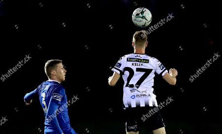 Waterford vs Dundalk. Waterford's Kevin Lynch and Daniel Kelly of Dundalk