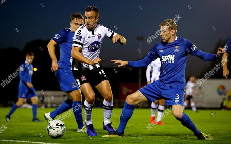 Waterford vs Dundalk. Waterford's Kevin Lynch and Robbie Benson of Dundalk