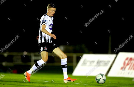 Waterford vs Dundalk. Daniel Kelly of Dundalk scores the first goal of the game