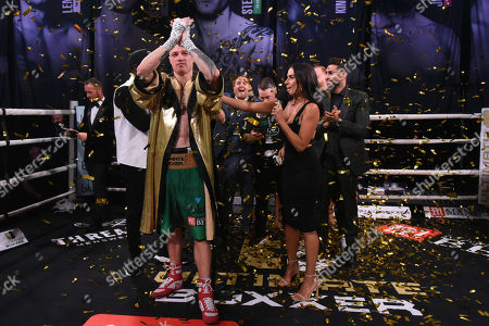 Steven Donnelly (green shorts) defeats Sean Robinson at Indigo at the O2 London on 20th September 2019