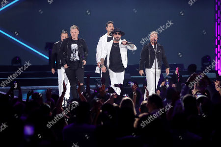 Stock Photo of Backstreet Boys - Nick Carter, Howie Dorough, Kevin Richardson, AJ McLean and Brian Littrell