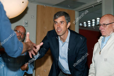 Beto o'rourke, r m. U.S. Rep. Beto O'Rourke, D-Texas, greets participants during a roundtable discussion about the issues of gun control and the need for additional mental health measures with several survivors of mass shooting victims at an office, in downtown Denver