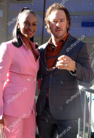 Tika Sumpter and Mark-Paul Gosselaar