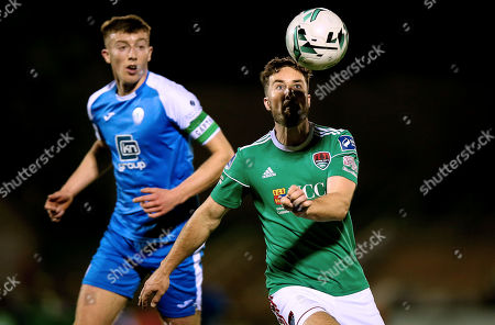 Cork City vs Finn Harps. Cork's Gearoid Morrissey with Sam Todd of Finn Harps