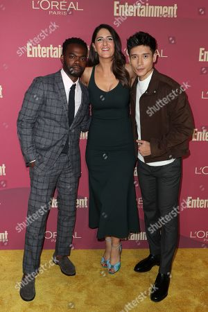 William Jackson Harper, D'Arcy Carden and Manny Jacinto