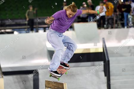 Stock Picture of Dutch Candy Jacobs in action during the quarter finals of the World Championships of Street Skateboarding in Sao Paulo, at the Anhembi Park in Sao Paulo, Brazil, 20 September 2019.