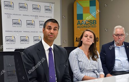 Editorial photo of Ajit Pai Leads Broadband Discussion at Emporia State University School of Business, Emporia, Kansas, USA - 19 Sep 2019