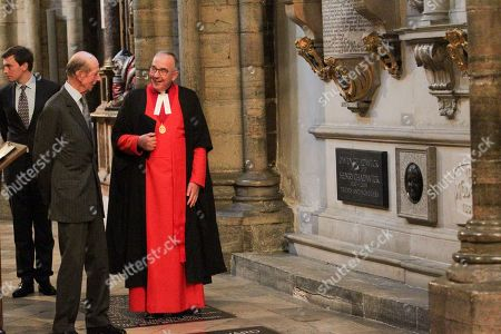 Stock Picture of The Very Reverend John Hall and the Duke of Kent