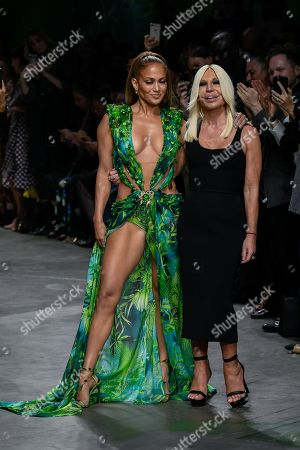Jennifer Lopez and Donatella Versace
