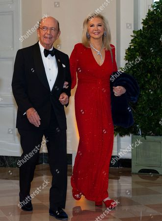 United States Secretary of Commerce Wilbur L. Ross Jr. (L) and Hilary Ross (R) arrive for the State Dinner hosted by United States President Donald J. Trump and First lady Melania Trump in honor of Prime Minister Scott Morrison of Australia and his wife, Jenny Morrison, at the White House in Washington, DC, USA, 20 September 2019.