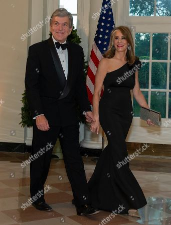 United States Senator Roy Blunt (L, Republican of Missouri) and Abigail Blunt (R) arrive for the State Dinner hosted by United States President Donald J. Trump and First lady Melania Trump in honor of Prime Minister Scott Morrison of Australia and his wife, Jenny Morrison, at the White House in Washington, DC, USA, 20 September 2019.