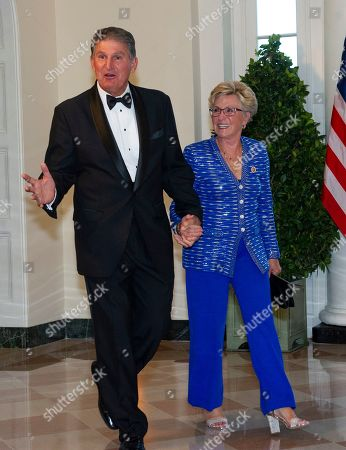 United States Senator Joe Manchin III (L, Democrat of West Virginia) and Gayle Manchin (R) arrive for the State Dinner hosted by United States President Donald J. Trump and First lady Melania Trump in honor of Prime Minister Scott Morrison of Australia and his wife, Jenny Morrison, at the White House in Washington, DC, USA, 20 September 2019.