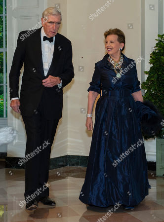 US philanthropist Adrienne Arsht (R) and C. Boyden Gray (L) arrive for the State Dinner hosted by United States President Donald J. Trump and First lady Melania Trump in honor of Prime Minister Scott Morrison of Australia and his wife, Jenny Morrison, at the White House in Washington, DC, USA, 20 September 2019.