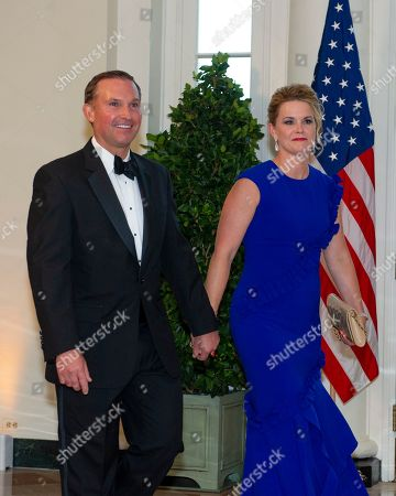 Mayor Leonard Curry (L, Republican of Jacksonville, Florida) and Molly Curry (R) arrive for the State Dinner hosted by United States President Donald J. Trump and First lady Melania Trump in honor of Prime Minister Scott Morrison of Australia and his wife, Jenny Morrison, at the White House in Washington, DC, USA, 20 September 2019.