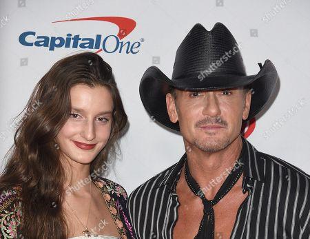 Tim McGraw and Audrey Caroline McGraw