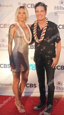 Stock Image of Skylar Grey and Rob Morrow during the Hawaii Five-O and Magnum P.I. Sunset On The Beach event on Waikiki Beach in Honolulu, Hawaii - Michael Sullivan/CSM
