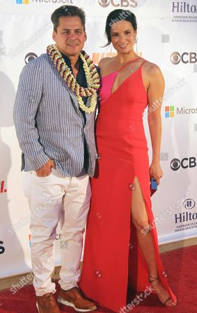 Peter M. Lenkov and Katrina Law during the Hawaii Five-O and Magnum P.I. Sunset On The Beach event on Waikiki Beach in Honolulu, Hawaii - Michael Sullivan/CSM