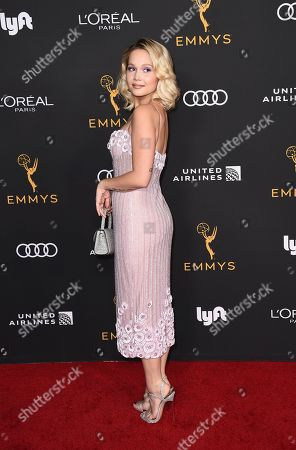 Kelli Berglund arrives at the 2019 Performers Nominee Reception presented by the Television Academy at the Wallis Annenberg Center for the Performing Arts, in Beverly Hills, Calif