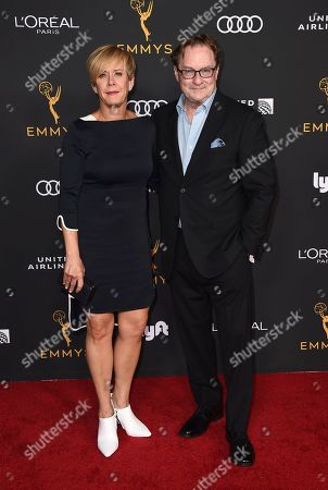 Romy Rosemont, Stephen Root. Romy Rosemont, left, and Stephen Root arrive at the 2019 Performers Nominee Reception presented by the Television Academy at the Wallis Annenberg Center for the Performing Arts, in Beverly Hills, Calif