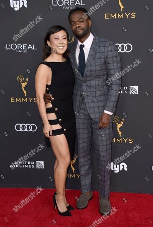Ali Ahn, William Jackson Harper. Ali Ahn, left, and William Jackson Harper arrive at the 2019 Performers Nominee Reception presented by the Television Academy at the Wallis Annenberg Center for the Performing Arts, in Beverly Hills, Calif