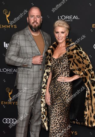 Chris Sullivan, Rachel Reichard. Chris Sullivan, left, and Rachel Reichard arrive at the 2019 Performers Nominee Reception presented by the Television Academy at the Wallis Annenberg Center for the Performing Arts, in Beverly Hills, Calif